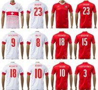 Wholesale Football Tshirt - 2017 Soccer 23 Xherdan Shaqiri Switzerland Jersey 2018 Custom 15 Eren Derdiyok 3 Stephan Lichtsteiner Swiss Football Shirt Kits Foot Tshirt
