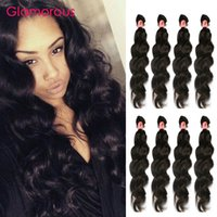 Wholesale Wholesale Eurasian Virgin Hair - Glamorous Malaysian Human Hair Weaves Queen Hair Products Peruvian Indian Brazilian Eurasian Natural Wave Virgin Human Hair Extensions 4Pcs