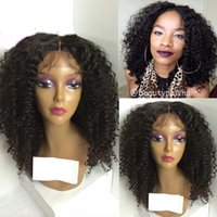 Wholesale Sexy Front Lace Wig - Actural sexy Afro kinky curly synthetic lace front wig ,glueless baby hair anime hair styles short fine hair 22inch Freeshipping