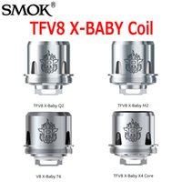 Wholesale Beast X - Original Smok TFV8 X-Baby Coil Head Q2 0.4ohm M2 0.25ohm X4 0.13ohm T6 0.2ohm Replacement Coils For G-priv 2 Kit Beast Tank 100% Authentic