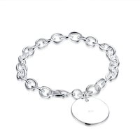 Wholesale 925 Mens Bracelet - 2017 New YUEYIN 925 Silver Plated Womens Mens Unisex Bracelet Bangle Wristband Link Chains Snake Chains Fashion Jewelry