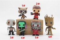 Wholesale Bobble Man - Chanycore Funko pop Bobble Head Groot Star-Lord Rocket Drax Gamora Tree man Guardians of the Galaxy Anime Vinyl PVC model toy