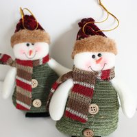 Lovely Snowman Christmas Decoration Decoración del árbol de Navidad Clothes Dolls Christmas Gifts Decoración interior Free Ship Wholesale