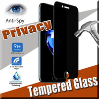 Wholesale Iphone 4s Scratch Guard - 9H Hardness Privacy Tempered Glass Proof Premium Shield Anti-Spy Real Screen Protector Film Protective Guard For iPhone X 8 7 Plus 6S 5S 4S