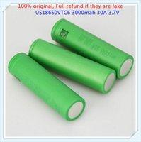 Wholesale Rechargeable Batteries Suppliers - us18650vtc6 18650 3000mAh 30A lithium battery original Power electronic cigarette battery 18650 VTC6 Mainifire Original supplier