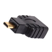 Wholesale Convertor Box - For HDTV TV BOX Micro HDMI Male to HDMI Female Plug Adapter Gold-Plated Connector Adapter Convertor Free Shipping