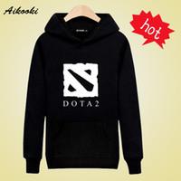 Wholesale Dota Hoodie - Wholesale- Excellent Dota 2 Hooded Hoodies with Street wear Style Sweatshirt Men xxs-3xl in high quality Mens Hoodies and Sweatshirts