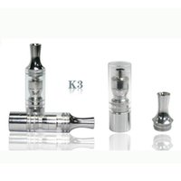 Wholesale E Cig Atomizer Replacement - K3 wax atomizer glass tank Dry Herb clearomizer vaporizer Metal Dip trip Detachable replacement Coil For Ego Battery E cig