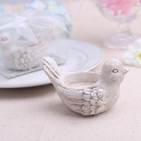 """Wholesale Tea Candle Favors - Wedding Favors """"Songbird"""" Tea light Candle Holder Love Bird Tealight Holder 100pieces lot FREE SHIPPING(comes without the candle"""