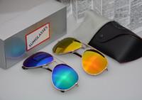 ingrosso scatole per la pesca-Alta qualità Moda Uomo Donna Occhiali da sole polarizzati Marchio del progettista Occhiali da sole Occhiali da pesca classici vintage con occhiali e astuccio