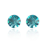 Wholesale swarovski earrings for sale - Group buy QZ Fashion Swarovski Element Crystal Stud Earrings Platinum Plated Jewelry for Women Girls Ladies Multi color Choose Hot Sale