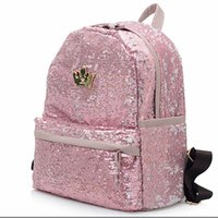 Wholesale Sequins Womens Fashion - Wholesale- 2017 Fashion Cute Girls Sequins Backpack Womens Paillette Leisure School BookBags Free Shipping Top Quality P110