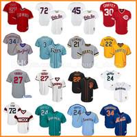 Wholesale Chicago Blue Grey Red - Ken Griffey Jr. Mike Trout Jersey Chicago White Sox Pirates Noah Syndergaard Evan Longoria Buster Posey Adam Jones Hosmer baseball Jerseys