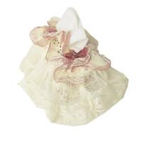 Wholesale Lace Tissue Box Covers - Wholesale- Pastoral Style Rectangle Lace Floral Tissue Box Cover Paper Holder