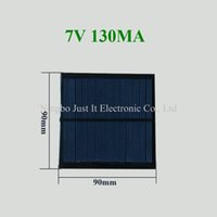 Wholesale Wholesale Small Solar Panels - 50pcs lot Small Size Epoxy Resin Solar Panel 7V 130mA 90*90mm