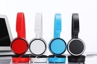 Wholesale Cheapest Game Player - Wholesale Cheapest Wire Headset 4 Color Nice Design Headphone Stereo Earphones for Game Players