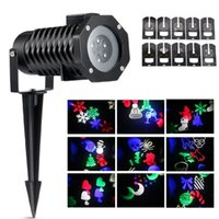 Wholesale Decoration For Patio - IP65 Waterproof Snowflake Landscape Spotlight LED Christmas Projection Light Show for Patio, Lawn, Garden, Holiday and Halloween Decorations