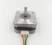 Wholesale nema 17 motors - Freeshipping 3D Printer Parts 2 Phase Nema 17 Stepper Motor 4 leads 26mm 12V   0.4A 220mN.m 3D Printer Motor
