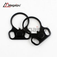 Wholesale Tube Loop Wholesale - Magaipu AR15 Dual loop Sling mount Adapter End Plate Right Left Handed Mount for Ar 15 Stock Buffer Tube Sling Swivel