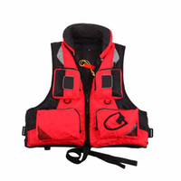 Wholesale outdoor vests for men - Wholesale- Outdoor Unisex Adult Life Jacket L-XXL Fishing Safety Life Vest For Water Sport Drifting Boating Sailing Kayak Survival Swimwear