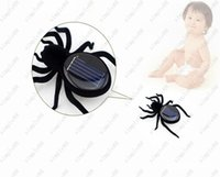 Wholesale Novelty Toys New High Quality Solar Power Legs Black Crazy Spider Children Toy Solar Energy Toy