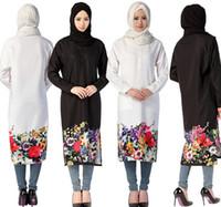 Wholesale Islamic Clothing Women Wholesale - muslim linen dress women dresses islamic clothes arabia clothing long bohemia dress women D155