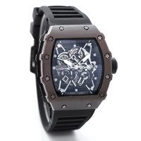 Wholesale Skeleton Rubber Watch - 2017Luxury brand Fashion Skeleton Watches men or women Skull sport quartz watch 2