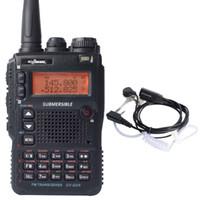 vhf uhf iki yönlü telsizler toptan satış-Toptan-UV-8DR VHF UHF 136-174 / 240-260 / 400-520mhz CB jambon kulaklık ile 128 kanal iki yönlü telsiz walkie talkie