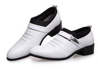Hommes Pointus Chaussures Blanches Pas Cher-2017 chaussures habillées hommes chaussures oxford beau chaussures pointillées pointues sociales 56