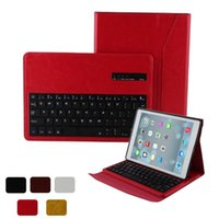 Wholesale Detachable Ipad Keyboard - Bluetooth Keyboard Case iPad Air 2 IP056 PU Leather Stand Case Cover Magnetic Detachable Wireless Bluetooth Keyboard with retailpackage