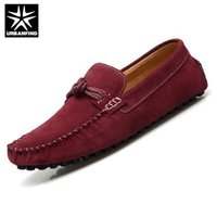 Wholesale Slips Nylon Men - Wholesale-Classic Style Men Casual Driving Shoes Eu 38-44 Suede Leather Slip-on Nylon Lace Design Man Fashion Loafers