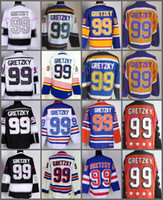 New York Rangers 99 Wayne Gretzky Jerseys Hockey St. Louis Blues LA Los  Angeles Kings Vintage Blue White Black Yellow Orange 385664e38f5