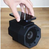 коробка подарка диктора оптовых-Новый Boom Touch Speaker Резонансный динамик Телефон Беспроводное подключение Нет сопряжения Mega Sound Boost Boom box для смартфона подарок для малыша