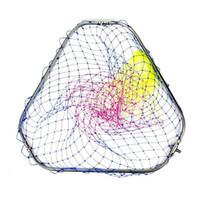 цветные кольца оптовых-диаметр 60 см посадочная сетка головы цветной нейлон рыболовная сеть кольцо из нержавеющей стали рыболовная сеть turck net dipneting(3size)