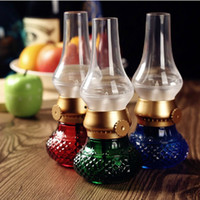 Wholesale Led Rechargeable Ball - Retro Nostalgia Blowing Controlled Kerosene Lamp Rechargeable USB LED Night Light Latest Portable Retro Blow LED Bedside Lamp Touch Lamp