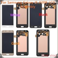 Wholesale Lcd Galaxy Mini Display - 5PCS LOT LCD Screen For Samsung For Galaxy J5 J500 LCD Display Digitizer Touch Screen Assembly ,Free DHL Shipping!(White Gold Black)