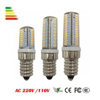 Wholesale Candle Corn E14 - E14 LED Lamp Corn Bulb AC 220V AC110V 6W 7W 9W SMD 3014 64 72 104leds Lampada LED light 360 degrees Replace Halogen Lamp