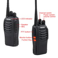 Wholesale Uhf Voice - 10pcs lot BF-888S Walkie Talkie UHF 400-470MHz 5W 16 Channel VOX Flashlight Scan Monitor Voice Prompt Single Band Two Way Radio