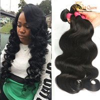 Wholesale Hair Colors Products - Grade 8A Brazilian Virgin Hair Body Wave 4 Bundles Human Weaves 100g Bundles Wet And Wavy Brazilian Hair Gaga Queen Hair Product