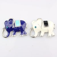 Wholesale Elephant Brooch Gold - Wholesale- Fashion personality Women Elephant Brooch Beautiful Animal Crystal Brooches Pins For Wedding Women Fashion Jewelry