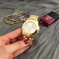 Wholesale Top Selling Digital Watches - New Fashion wrist watches Top Selling spain women Quartz watches personality series Watch Women Quartz Watch Full Steel Watches Wholesale