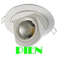 Wholesale Free Shipping Clothing Stores - Wholesale- Adjustable led downlight 10W COB Gimable rotation lampada recessed fixture for clothing store 85V-265V Free shipping 1pcs