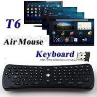 Contrôle De L'air Universel Pas Cher-T6 Mini clavier sans fil 2.4G Fly Air Mouse Télécommande universelle pour Smart Android TV Box Tablet PC S905X S912 RK3229 Set Top Box