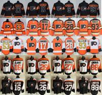 5df306326 Philadelphia Flyers Jerseys Ice Hockey 53 Shayne Gostisbehere 17 Wayne  Simmonds 28 Claude Giroux 93 Jakub Voracek 88 Eric Lindros 27 Hextall ...