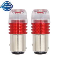 мигающий светодиодный тормоз оптовых-1157 BAY15D 1157 светодиодная вспышка проблескового маячка стоп-сигнала мигает светодиодная лампа P21 / 5W AC / DC12 красный Автоматический тормозной задний стоп-сигнал Лампа