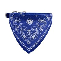 Wholesale Puppy Blue Beds - Wholesale- 2017 Adjustable Pet Dog Puppy Cat Neck Scarf Bandana Collar Neckerchief new arrival high quality on hot selling dog cat scarf