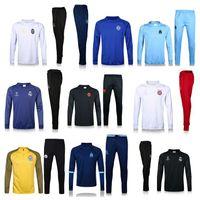 Wholesale Sportwear Pants - 2016 2017 soccer tracksuits home away champion league survetement Real Madrid Chelsea Marseille Ronaldo UCL training sweater pants sportwear