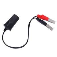 Wholesale Clip Battery Terminals - 12 Volt Battery Terminal Clip-on Lighter Power Socket Adapter Plug to Boat