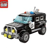 Wholesale Enlighten City - Enlighten City Series Police Swat Car Building Blocks Bricks Model Assembled Sets Toys Children Gift Toys