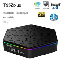 Wholesale android multi media player for sale - Group buy Android Smart TV Box GB RAM GB eMMC Amlogic S912 Octa Core Multi Media Player K D Movie Bluetooth G G Wifi T95Z Plus TVbox